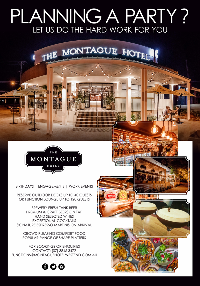 Montague Hotel West End Brisbane Events